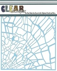 """Clear Scraps 6"""" stencil """"Shattered Glass"""""""