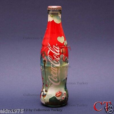 C017 COCA COLA 2008 TURKEY HAPPINESS FACTORY BOTTLE SHRINK WRAPPED GLASS