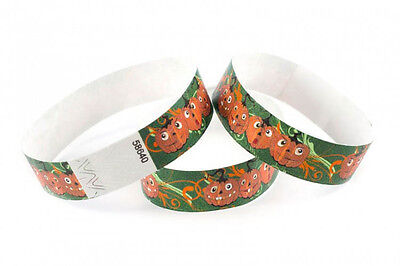 100 Kontrollbänder HAPPY PUMPKIN HALLOWEEN Wristbands Bracelets événementiels