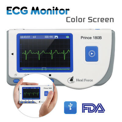 Heal Force Portable Handheld Color Easy ECG EKG Heart Monitor FDA Approved US