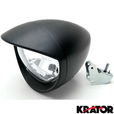 Black Motorcycle Headlight For Victory Vegas 8-Ball Jackpot Ness Premium