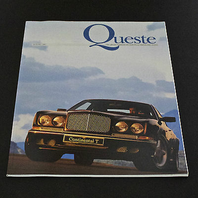Rolls Royce & Bentley Continental Quest Mag. Autumn 1997 - Issue 42 + FREE SHIP!