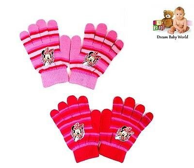 Brand New Girls Disney Minnie Mouse Gloves - size 3 - 8 Years One size