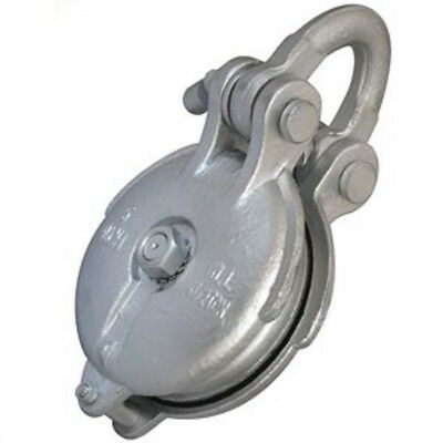 "5"" Sheave Snatch/Yarding Pulley Block, 1/2"" Wire Rope Cable, WLL 4.5 Ton"
