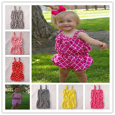 Baby Girls Newborn Cotton Bow Summer Jumpsuits Pant Photo Prop Gift