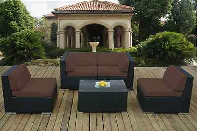 Outdoor Patio Wicker Furniture Deep Seating 5pc Set