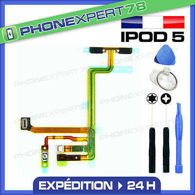 Nappe Flex Bouton Power On Off Volume Micro Flash Pour Ipod Touch 5 + Outils