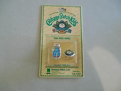 THE OFFICAL JEWELRY COLLECTION CABBAGE PATCH KIDS PIN & RING 16-102 BOY