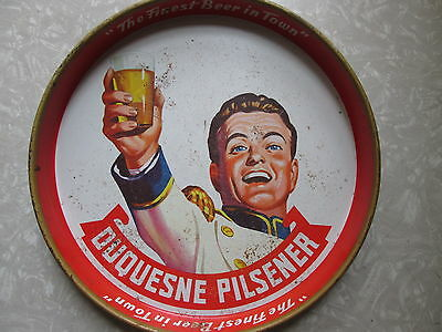 DUQUESNE PILSNER BEER TRAY ~ THE FINEST BEER IN TOWN ~ PITTSBURGH PA ~