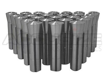 """25 Pcs/Set 1/8-7/8""""x32nds Precision Grade R8 Collets Hardened&Ground, #0200-0830"""