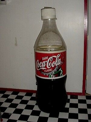 Large 5 ft. 5 In. Older Coca Cola Cooler Ice Chest Coke Bottle Store Display