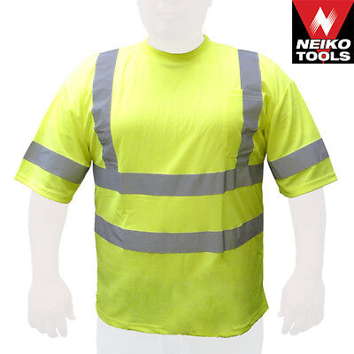 Class 3 Max-dry Moisture Wicking Mesh Short  Sleeve Safety T-shirt ,Choose Size