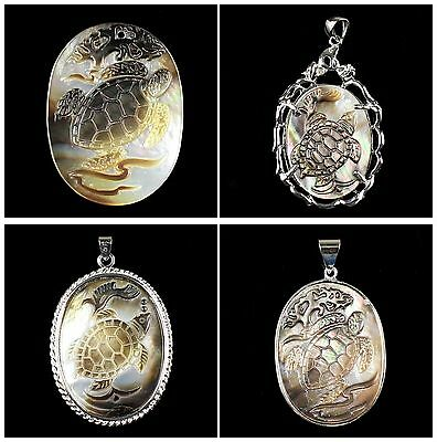 B6513 Carved shell turtle pendant bead & pendant,more size to select