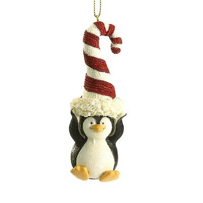 Boyds Christmas Ornament Bearstone Candyland Penguin -Paddy Peppermint  New/2012