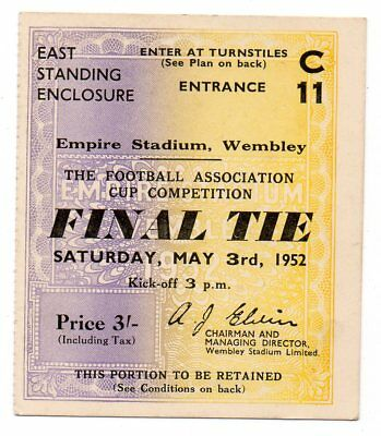 TICKET 1952 F.A. Cup Final Arsenal v. Newcastle United