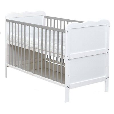 White Wood Cotbed Top Changer Baby Changing Table Station