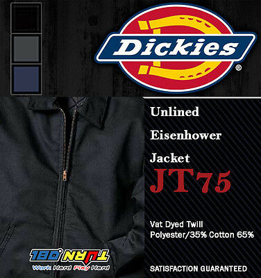 Dickies Men Jackets Unlined Eisenhower Jackets Jt75 Industrial Laundry Friendly