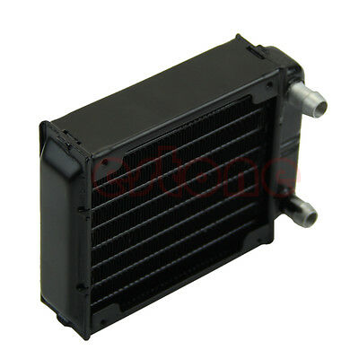 LED Heatsink 1pc 80mm Aluminum Computer Radiator Water Cooling Cooler for CPU