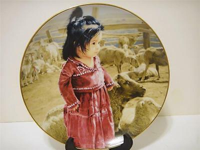 "Native American Girl ""Out With Mama's Flock"" Limited Edition"