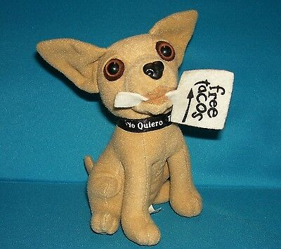 """TACO BELL DOG Chihuahua with FREE TACOS SIGN 6"""" Plush Toy"""