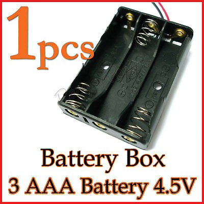 1 Battery Box Holder Case 3 x AAA (4.5V) with 6'' Leads