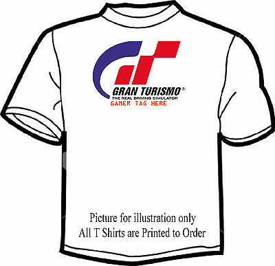 Gran Turismo  Gamer Tag White T Shirt ( Personalised If Required ) Freepost Uk
