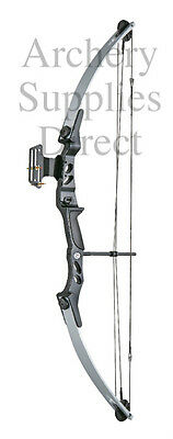 ASD Lynx Black & Silver Adult Archery Compound Bow Set 55lbs Sight & Arrow Rest