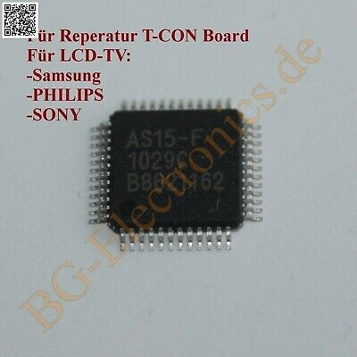 1 x AS15-F T-CON BOARD LCD-TV PHILIPS, SAMSUNG, SONY AS15-G  QFP-48 1pcs