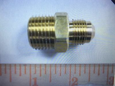 Parker Brass Fitting, 1/2 Npt Male X 3/8 Male Flare