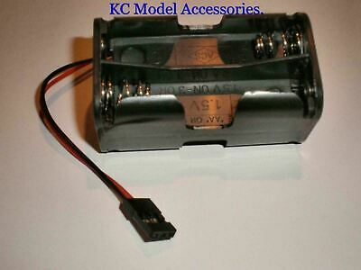 RC AA x 4 Battery Holder With Futaba JR Plug For Receiver,Planes, Cars,Boats Etc