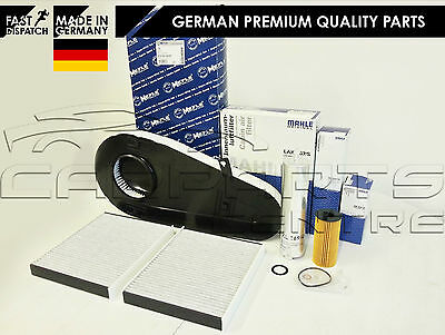 For Bmw 520 D 520D F10 F11 Service Kit Oil Air Fuel Cabin Pollen Filter Mahle