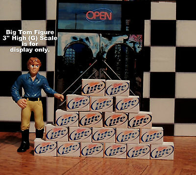 20 Cases Of Miller Lite Beer  Ready To Be Displayed For 1:24 G Scale Diorama