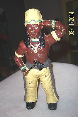 "CAST IRON ""INDIAN CHIEF "" STILL BANK"