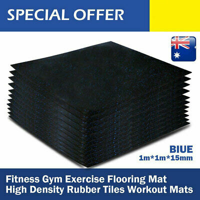Gymnasium Tile Rubber Flooring Floor Mats With Blue Dot Heavy Duty Exercise 1X1M
