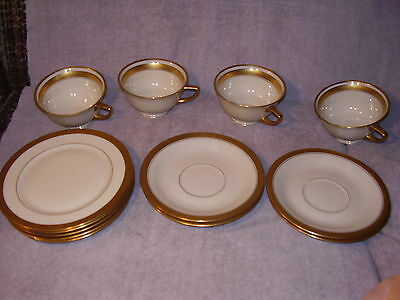 13 piece cup saucer cake plate Heinrich Selb Bavaria Germany-Pickard Decorated