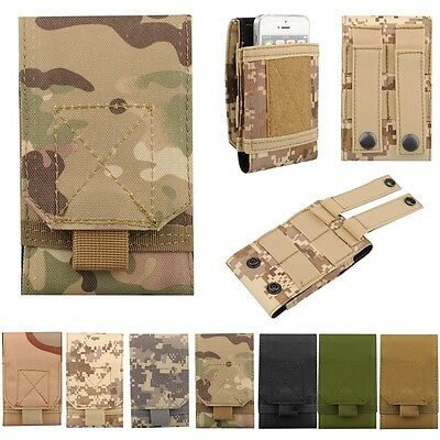 Universal Army Camo Bag Mobile CellPhone Belt Loop Hook Case Cover Pouch Holster