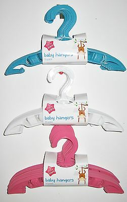 New Packs Of 5 Or 10 Baby/kids/toddlers,molded  Plastic Clothes Hangers