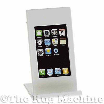 PHONE HOLDER PICTURE FRAME - White Metal iPhone Android Stand Picture Frame *NEW