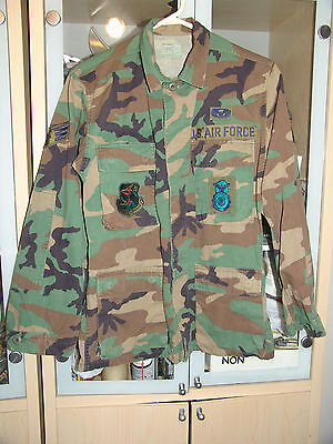 U.S. Air Force Camo / Camouflage  Jacket, Jungle with Patches. X-Small - Regular