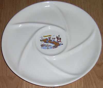 ORIGINAL LONGCHAMP OYSTER PLATE MAJOLICA, MARKED