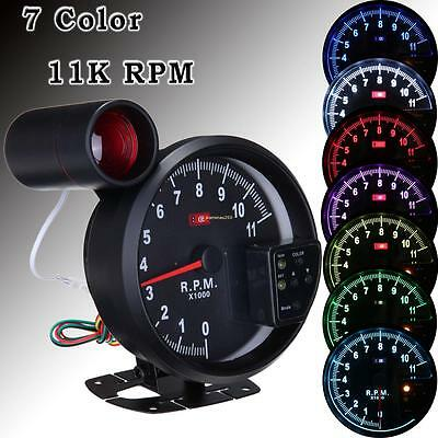 "5.1"" LED 7-Color Car 11K RPM Tachometer Tacho Gauge 4- 6-  8- Cylinder Engines"