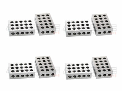 4 Pairs (8 Pcs) of Precision 1-2-3 Blocks 2 Pcs/Set, #EG02-0411x4
