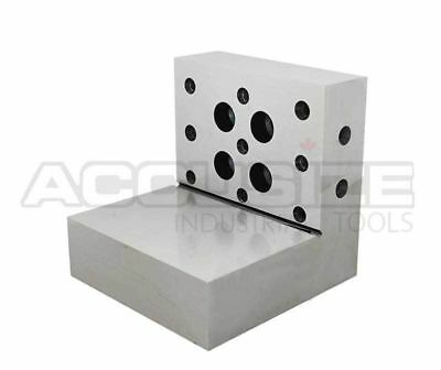 "4""x3""x3""x1""x0.0002"" Precision Steel Angle Plate, HRC 58 to 62, #2200-0901"