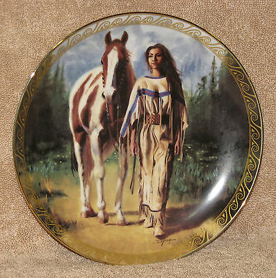 "Bradford Exchange ""Daughters of the Wind - Path to Serenity"" #2 Plate w/ COA"
