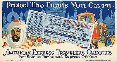 Colorful American Express Cheques Checks Blotter Arabic Images