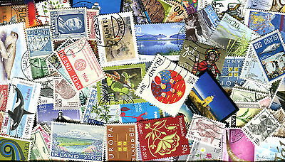 Iceland Lot of 200 Different Cancelled Stamps