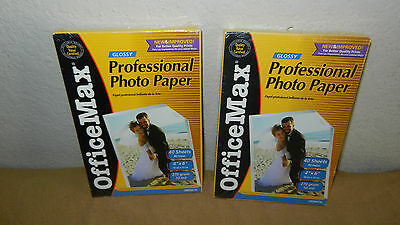 Lot of 3 OfficeMax Glossy 4x6 Photo Paper *NEW* OM96750
