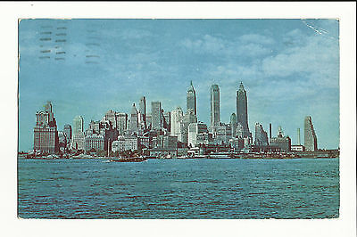 Vintage Postcard, Towers of Manhattan's Financial District New York, 1954, P109