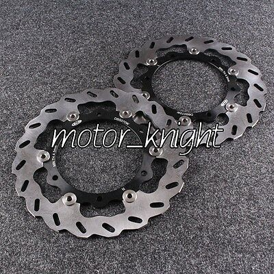 Black Front Brake Disc Rotors For Yamaha XP T-MAX 500 XP T-MAX ABS 500 2008-2012