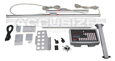 """2-Axis DRO for 8x36"""" Milling Machine Package, with Glass Scale, SINO, #SINS-1001"""